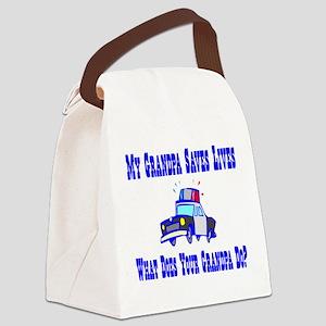 policesaveslivesgrandpa Canvas Lunch Bag