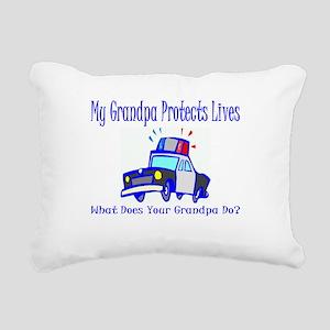policegrandpaprotect Rectangular Canvas Pillow