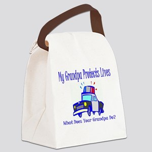 policegrandpaprotect Canvas Lunch Bag