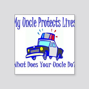 "policeuncleprotect Square Sticker 3"" x 3"""