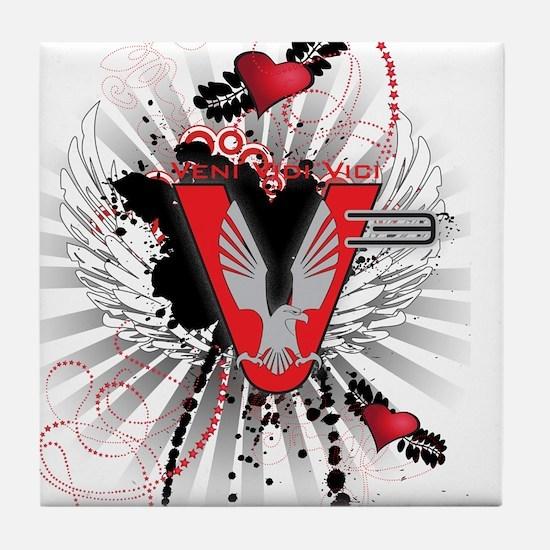 V3 graphic design Tile Coaster