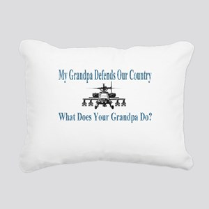 helicoptergrandpa Rectangular Canvas Pillow
