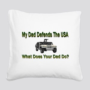 hummerdaddy Square Canvas Pillow