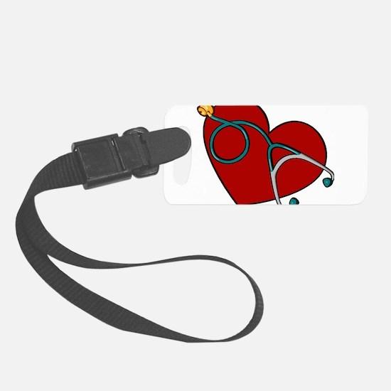 Heartstethiscope.jpg Luggage Tag