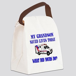 savedlivesambulancegrandson Canvas Lunch Bag