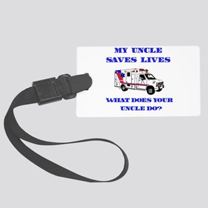 saveslivesambulanceuncle Large Luggage Tag
