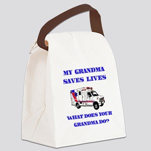 saveslivesambulancegrandma Canvas Lunch Bag