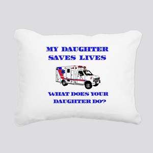 saveslivesambulancedaughter Rectangular Canvas