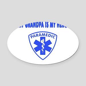 heroparamedicgrandpa Oval Car Magnet