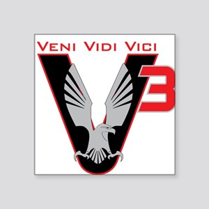 "V3 logo Square Sticker 3"" x 3"""