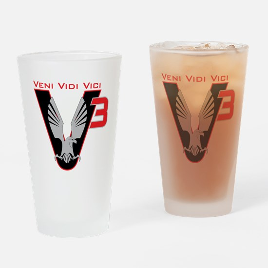 V3 logo Drinking Glass