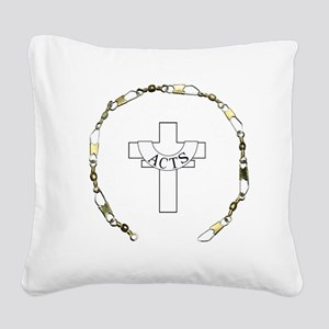 3-fishers of men gold Square Canvas Pillow