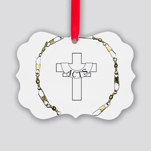 3-fishers of men gold Picture Ornament