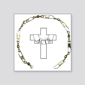 """3-fishers of men gold Square Sticker 3"""" x 3"""""""