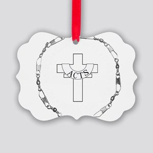 3-fishers of men silver Picture Ornament