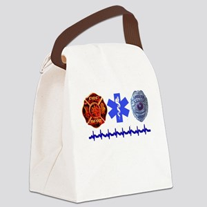 3badges Canvas Lunch Bag