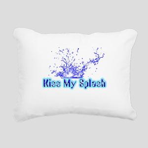 kiss my splash Rectangular Canvas Pillow