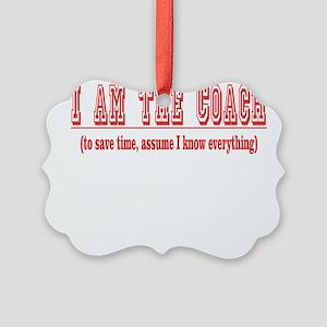 Im the coach copy Picture Ornament