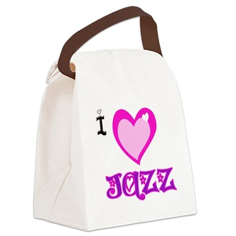 I Love JAZZ.png Canvas Lunch Bag