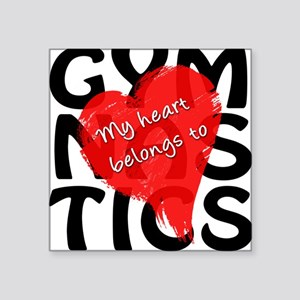 "My Heart Belongs to Gymnastics Square Sticker 3"" x"