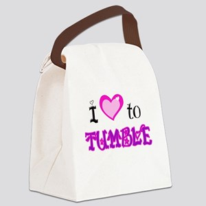 I Love to tumble Canvas Lunch Bag