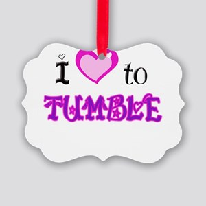I Love to tumble Picture Ornament