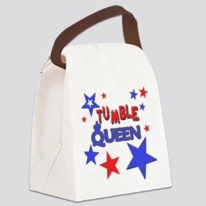 red blue stars tumble queen Canvas Lunch Bag