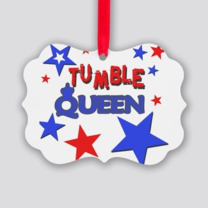 red blue stars tumble queen Picture Ornament