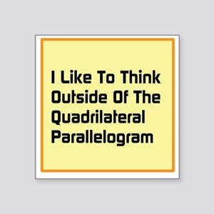 "Quadrilateral Parallelogram Square Sticker 3"" x 3"""