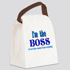 Im the boss Canvas Lunch Bag