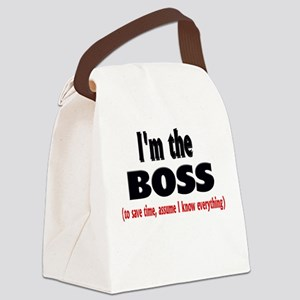 Im the boss1 Canvas Lunch Bag
