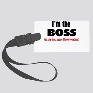 Im the boss1 Large Luggage Tag