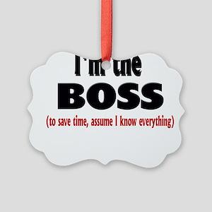 Im the boss1 Picture Ornament