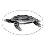 Leatherback Sea Turtle Sticker (Oval 10 pk)