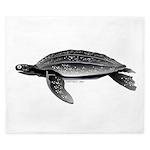 Leatherback Sea Turtle King Duvet