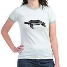 Leatherback Sea Turtle Jr. Ringer T-Shirt