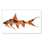 Goonch Catfish Sticker (Rectangle 10 pk)