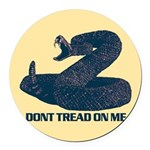 Dont Tread on me - updated Round Car Magnet