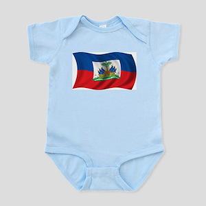 Wavy Haiti Flag Infant Creeper