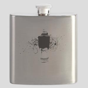 Graffiti Splatter Spray Paint Can Flask