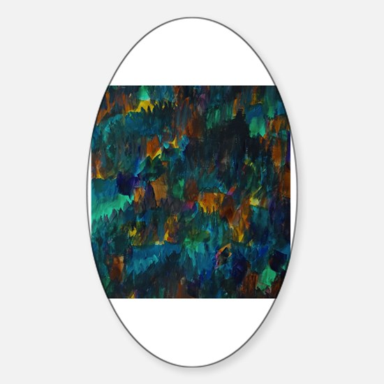 Unique Abstract forest Sticker (Oval)