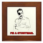 Stuntman Jack Framed Tile