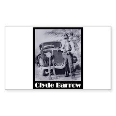 Clyde Barrow Sticker (Rectangle 50 pk)