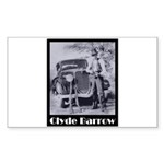 Clyde Barrow Sticker (Rectangle 10 pk)
