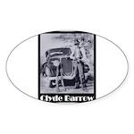 Clyde Barrow Sticker (Oval 50 pk)