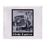 Clyde Barrow Throw Blanket