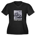 Clyde Barrow Women's Plus Size V-Neck Dark T-Shirt