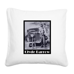 Clyde Barrow Square Canvas Pillow