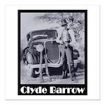 Clyde Barrow Square Car Magnet 3