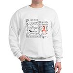 Uterine Cancer Words Sweatshirt
